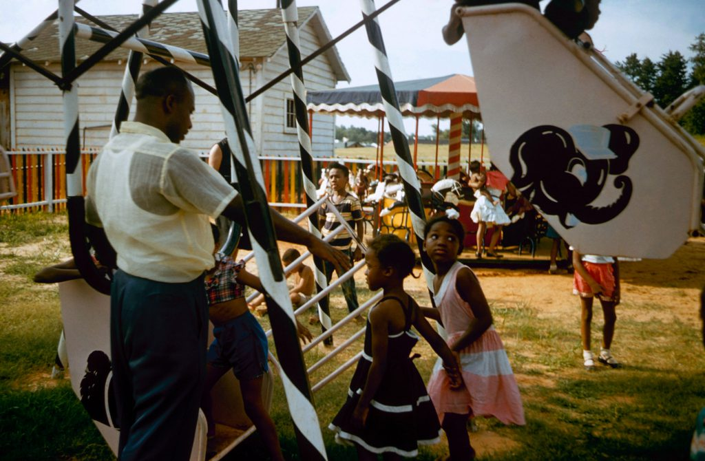 Segregated playground, Greenville, S. Carolina, 1956.