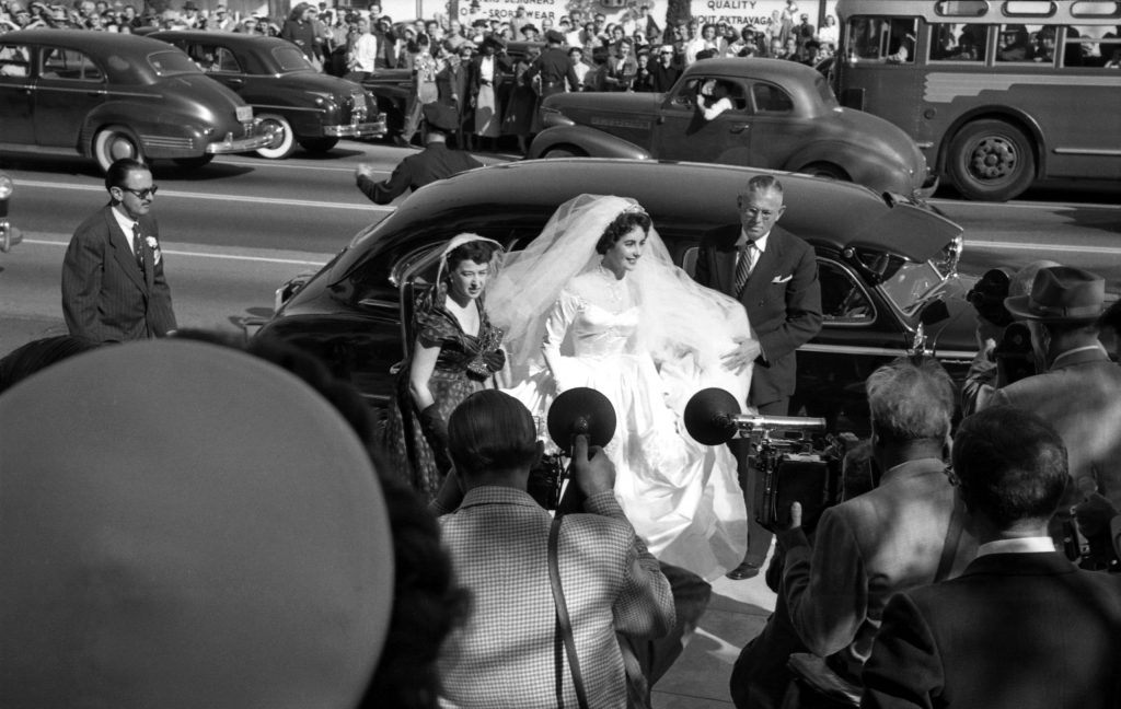 Elizabeth Taylor wedding to Nicky Hilton, 1950