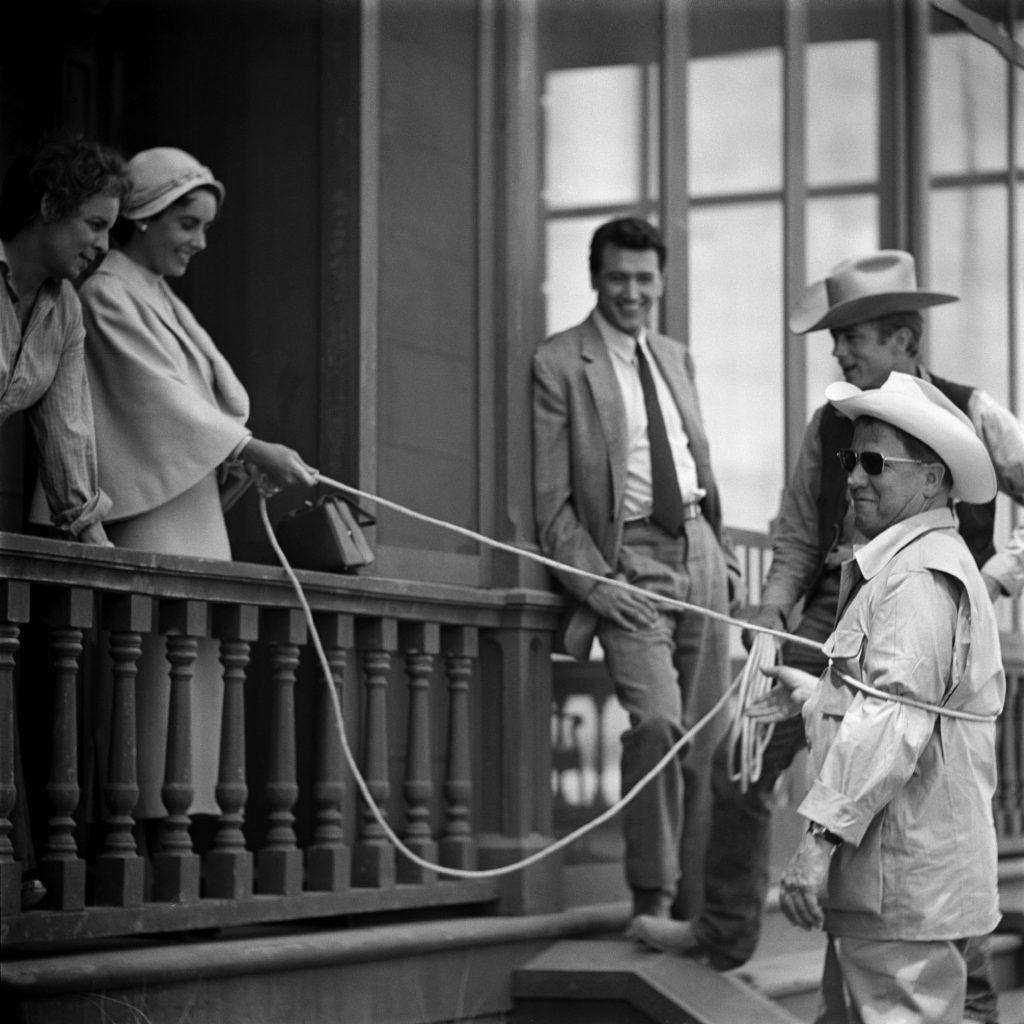 Elizabeth Taylor on the set of 'Giant,' 1956