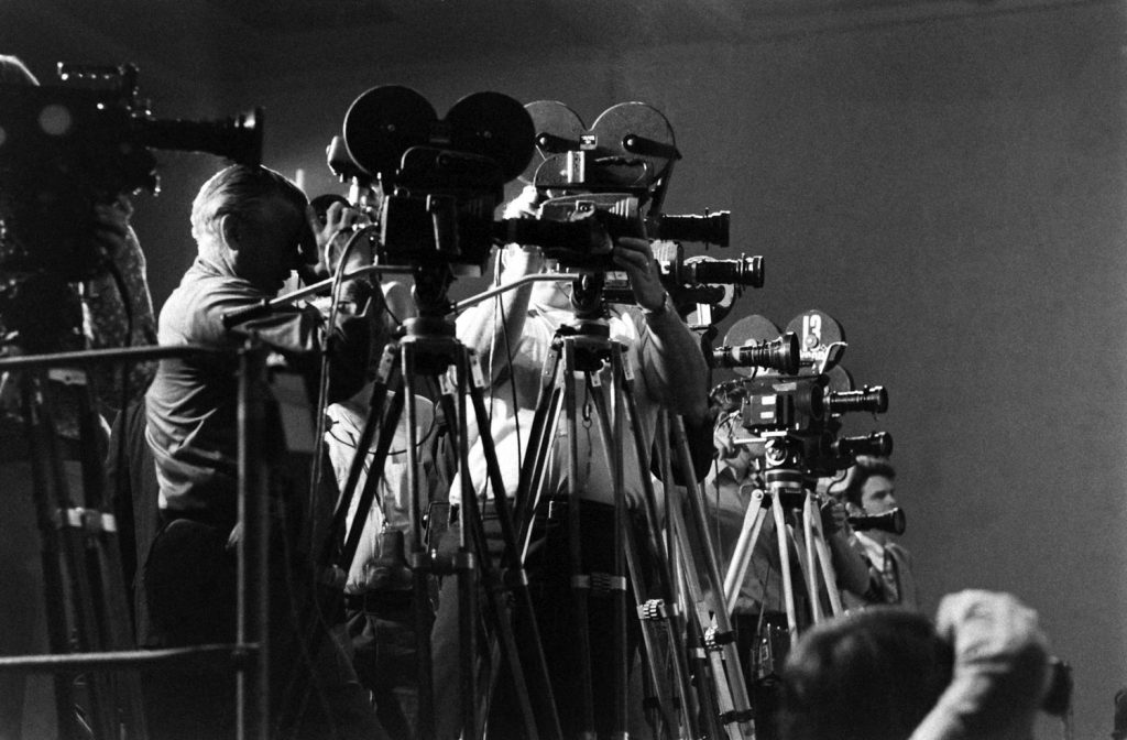 """From a """"caption guidance"""" memo sent to New York from L.A., meant to provide editors with a quick take on specific frames from the rolls and rolls of shot film: """"Photographers shooting the honorary announcers who were there to read nominees for benefit of TV."""""""