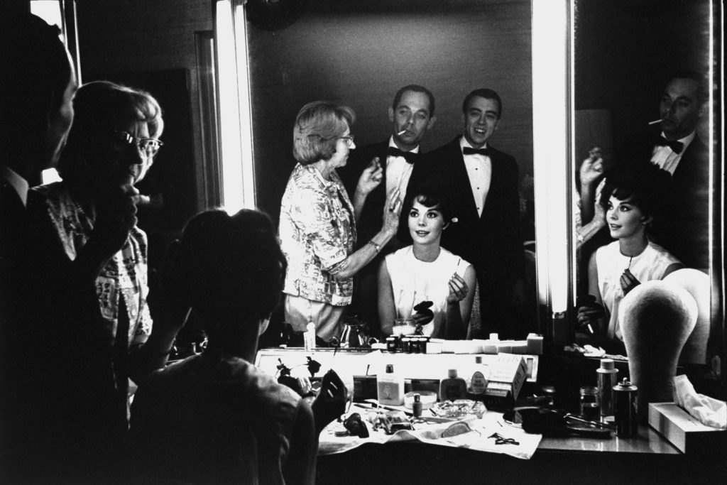 Natalie Wood primps for the 1962 Academy Awards.