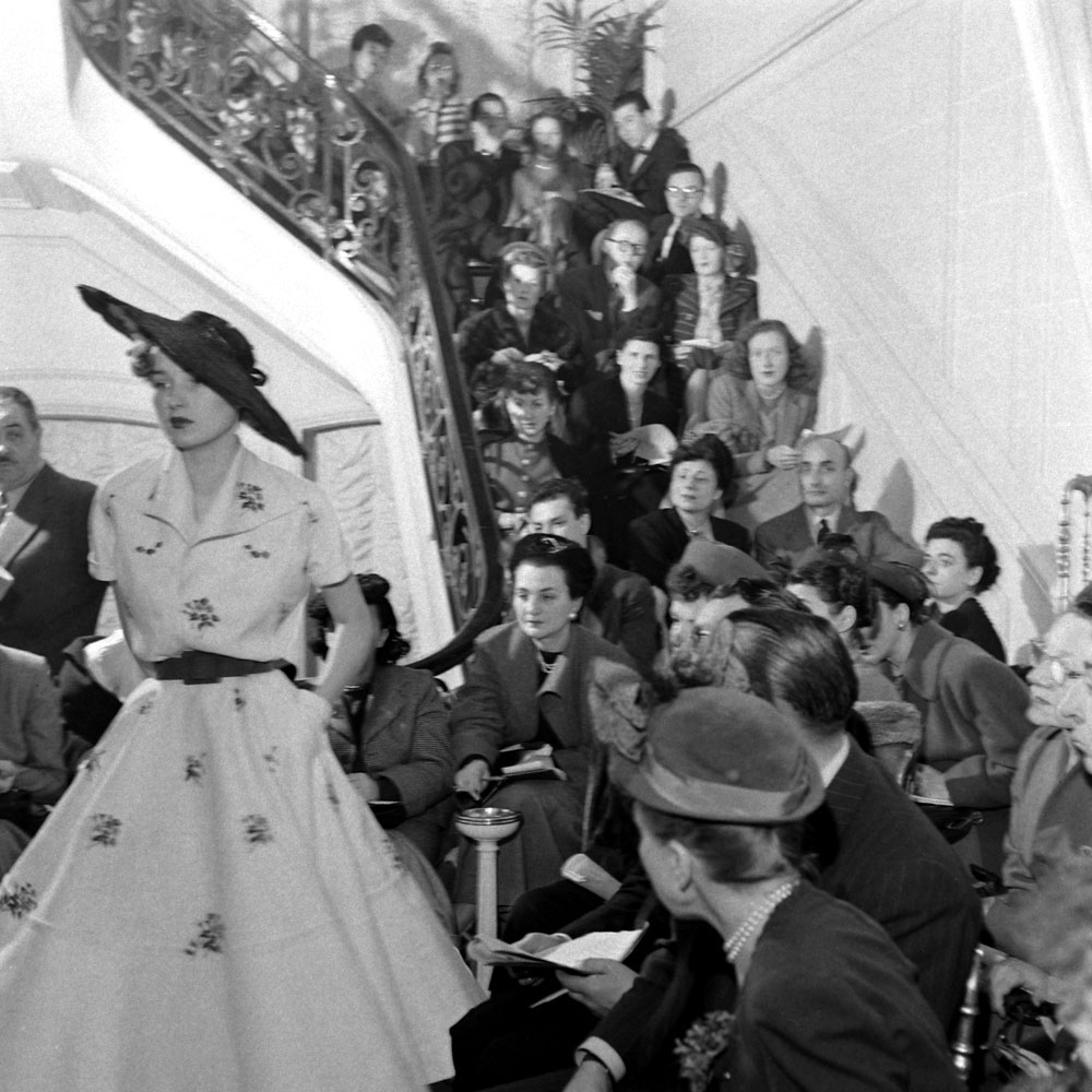 Christian Dior fashion show, Paris, 1948