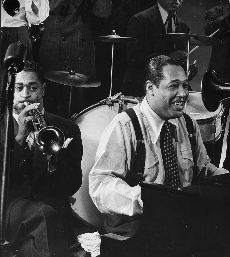 Duke Ellington and Dizzy Gillespie, 1943.