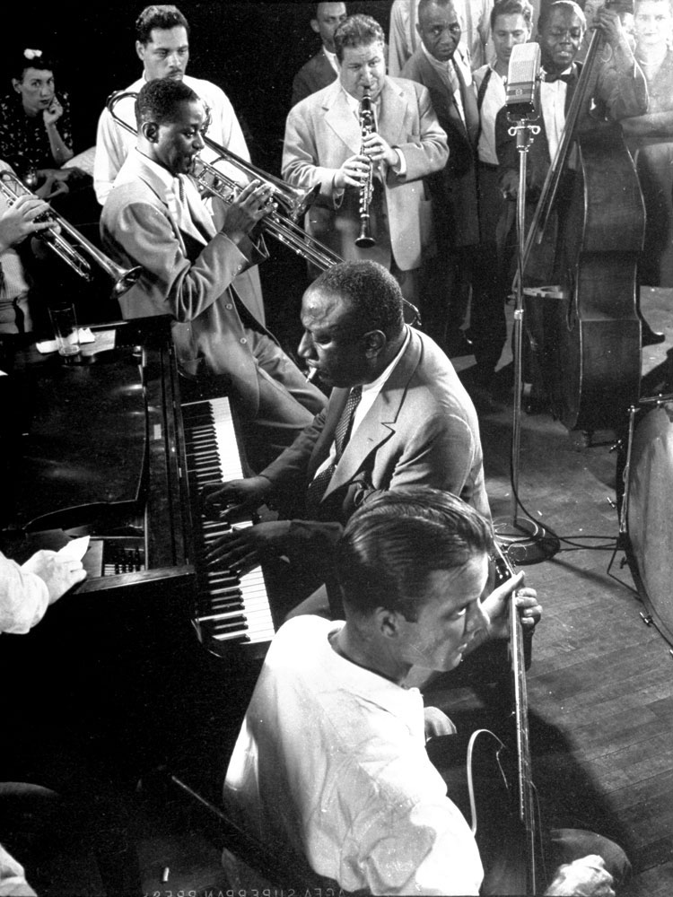 James P. Johnson (piano) and friends, 1943.