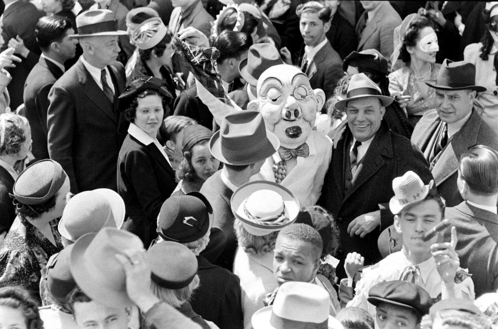 Mardi Gras mask, 1938.