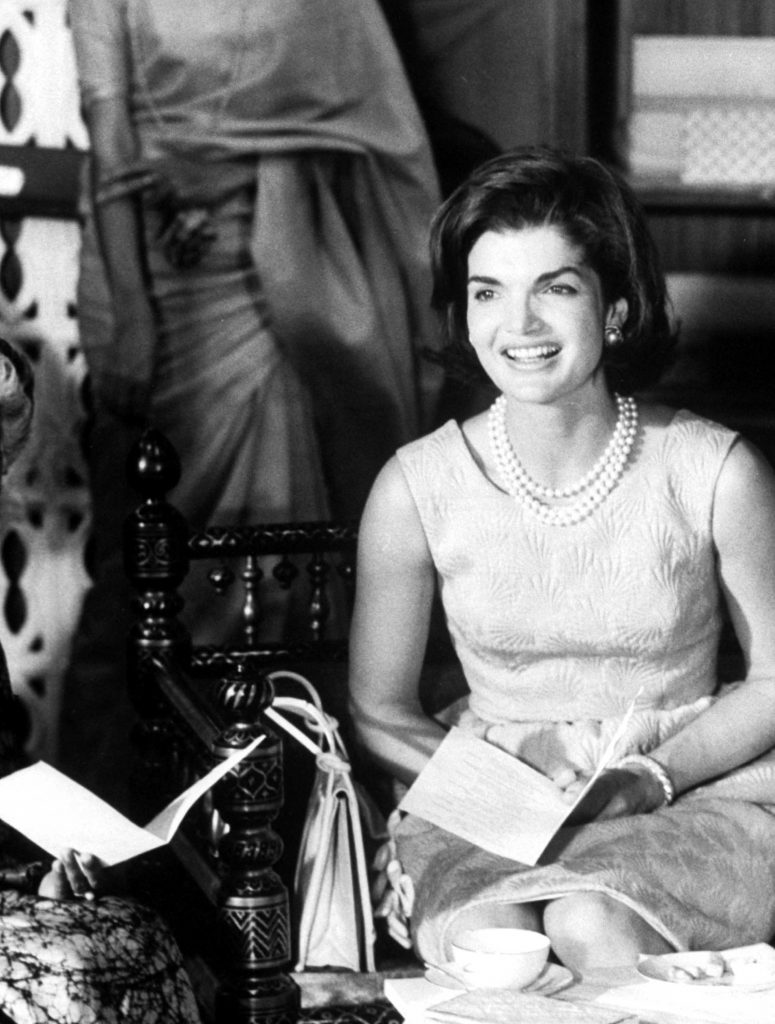Jackie Kennedy during her visit to India in March 1962.