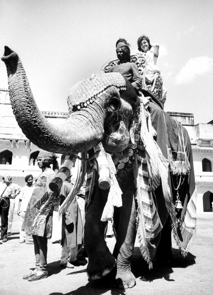 Jackie Kennedy on her tour of India in March 1962.