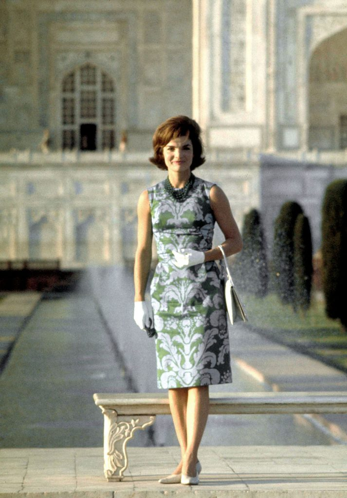 Jackie Kennedy at the Taj Mahal in March 1962.