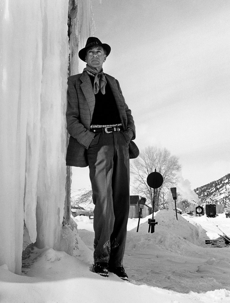 Film legend Gary Cooper in Aspen, Colo., in 1949