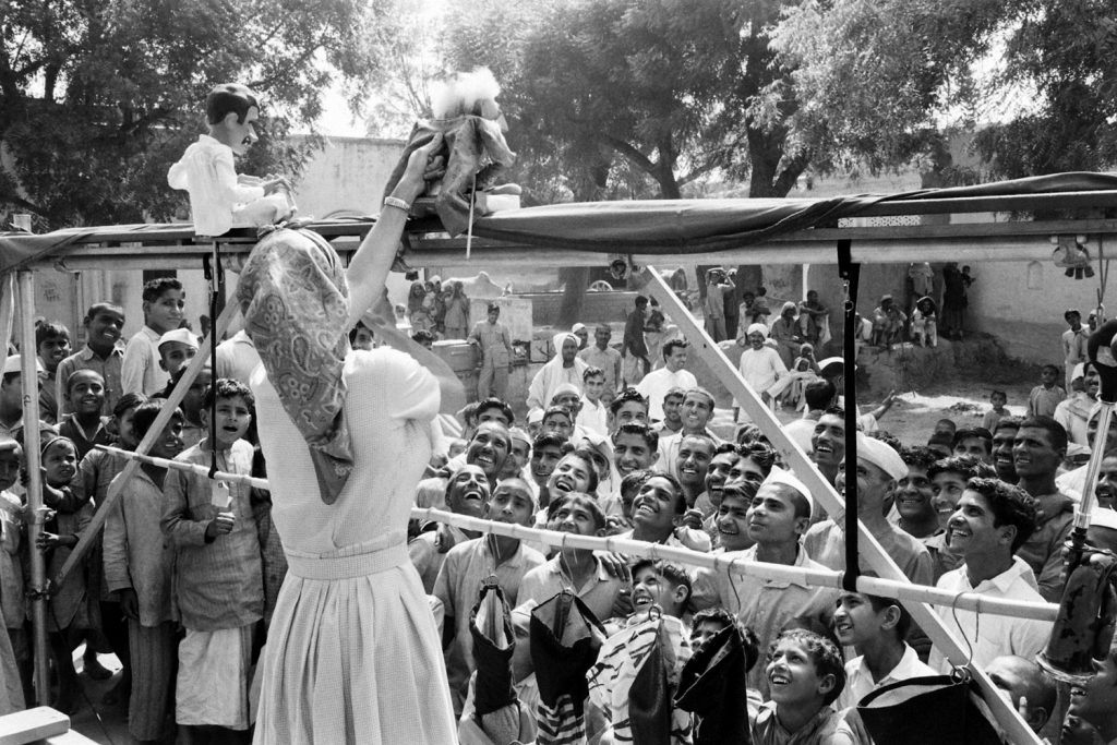 Puppeteer Cora Baird in India, 1962