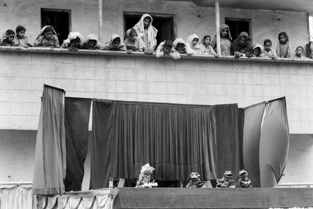 American puppeteer Bil Baird in India in 1962.