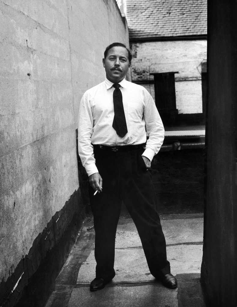 Tennessee Williams in New York in 1955.