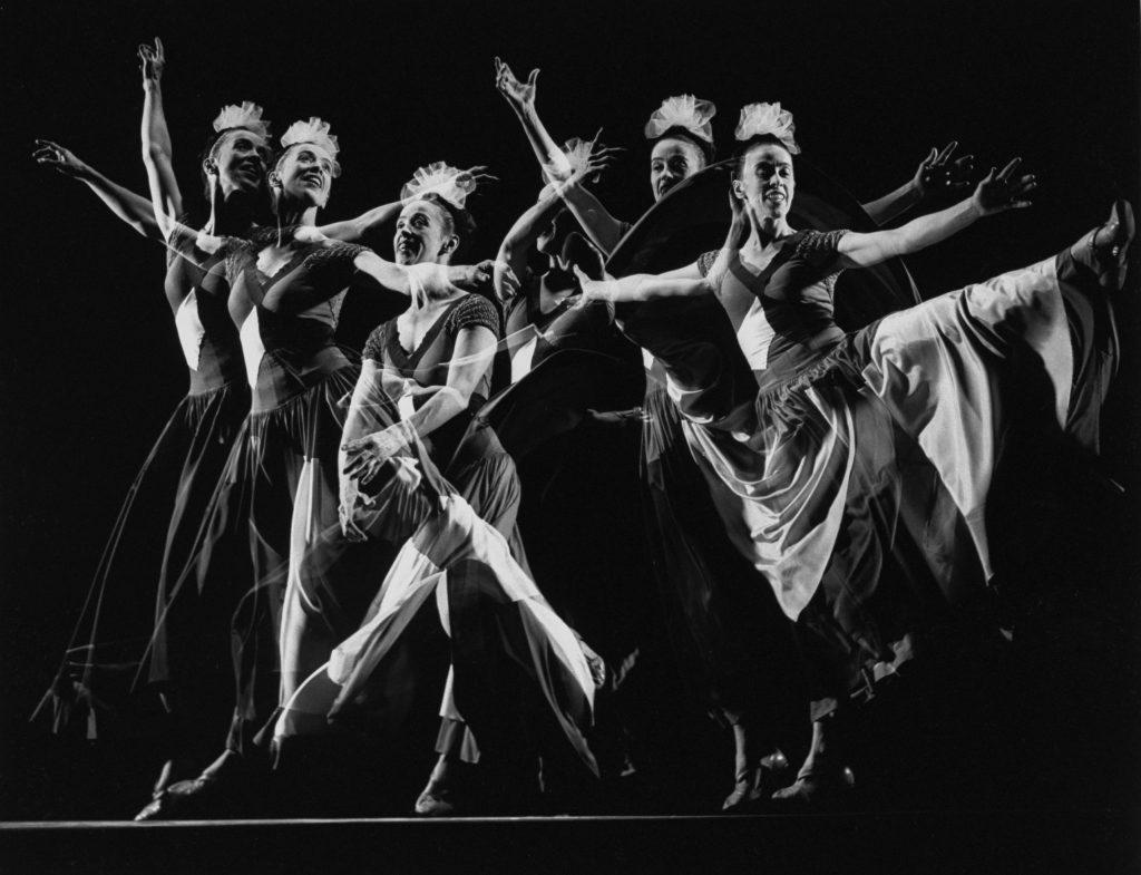 Choreographer Martha Graham performs her own work at Gjon Mili's studio, 1941.