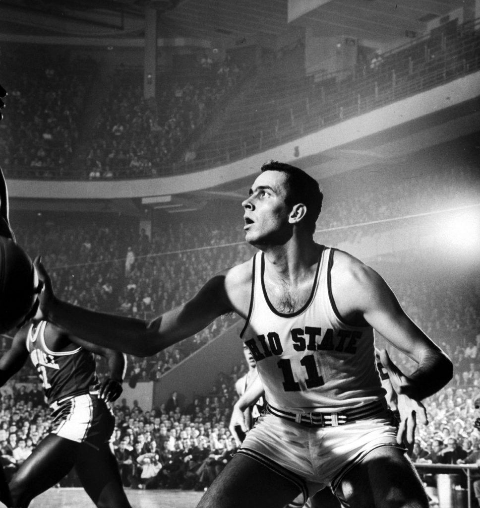 "The 6' 8"" Jerry Lucas (above, in 1960) is still regarded as one of the best big men in the history of the game. In three college seasons with Ohio State he averaged 24.3 points and 17.2 rebounds and led the Buckeyes to three NCAA title games. They won it all in 1960."
