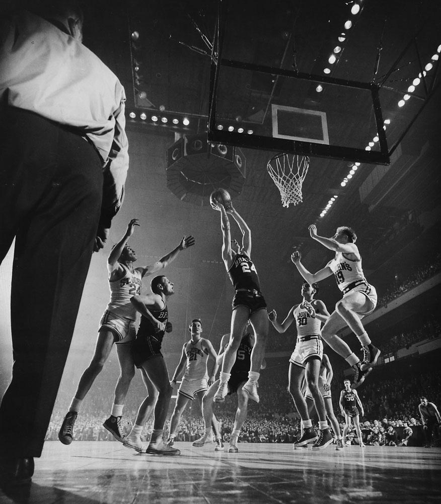 Bradley vs. St. John's, Madison Square Garden, New York, in 1951.