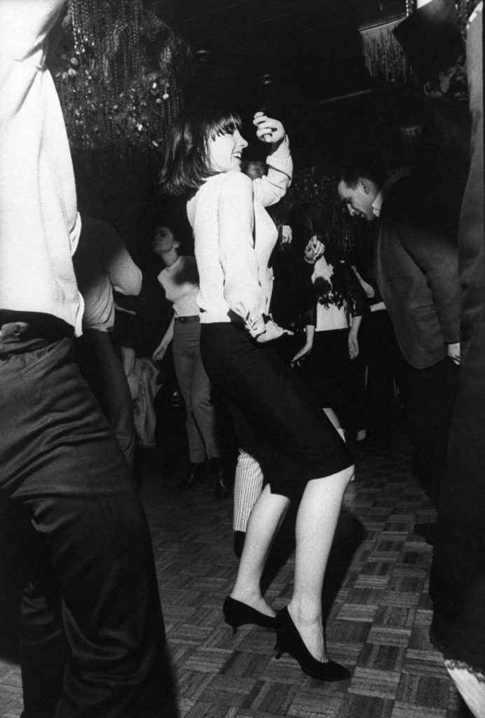 "Liza Minnelli busts out the hottest dance of the day, ""the Frug,"" at her birthday party in 1965."