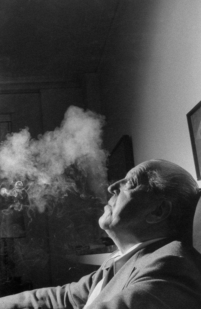 Ludwig Mies van der Rohe, architect, 1956.