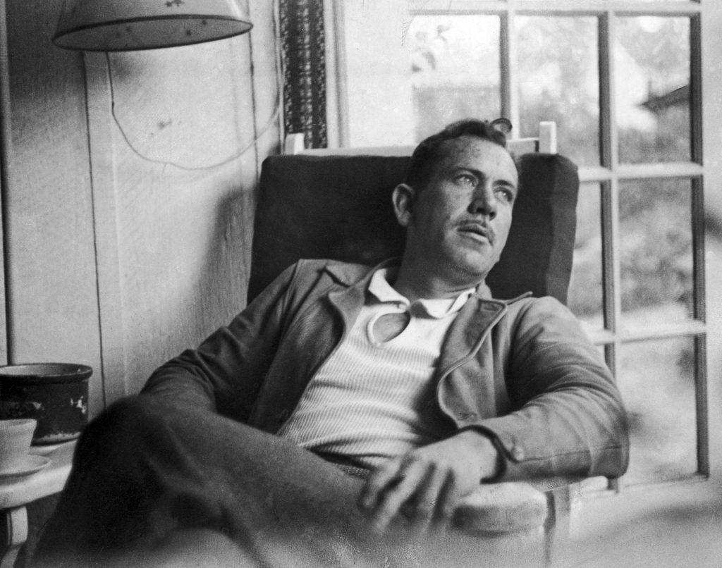 The 1962 Nobel laureate John Steinbeck in New York City in 1937.