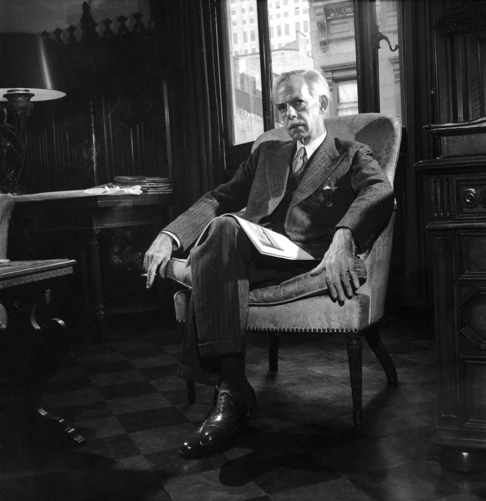 Playwright Eugene O'Neill in New York in 1950.