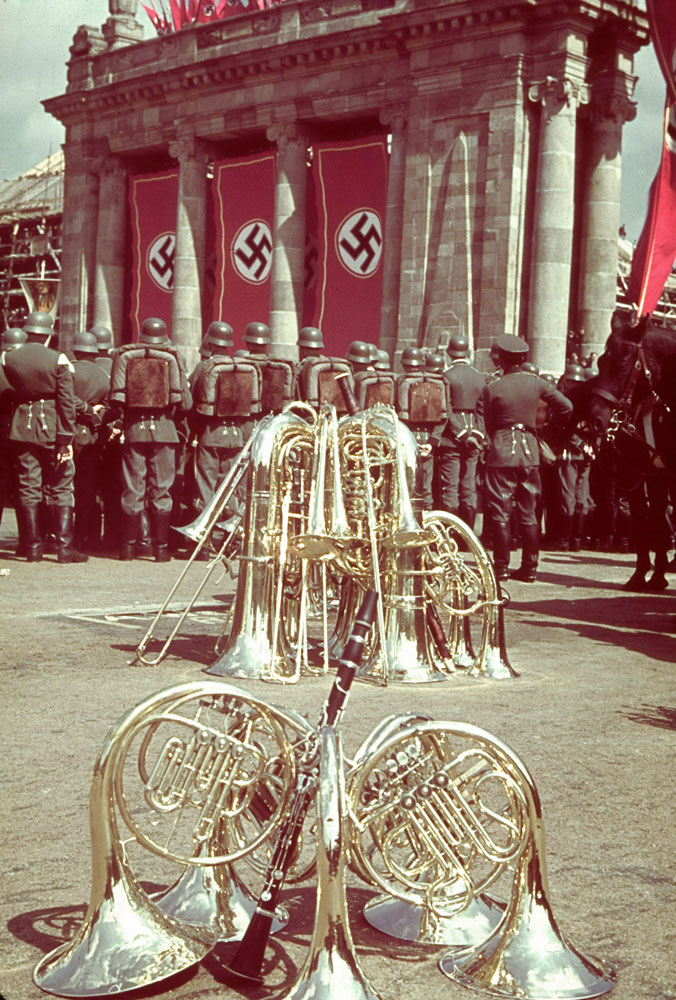 A rally in celebration of Adolf Hitler's 50th birthday, Berlin, April 20, 1939.