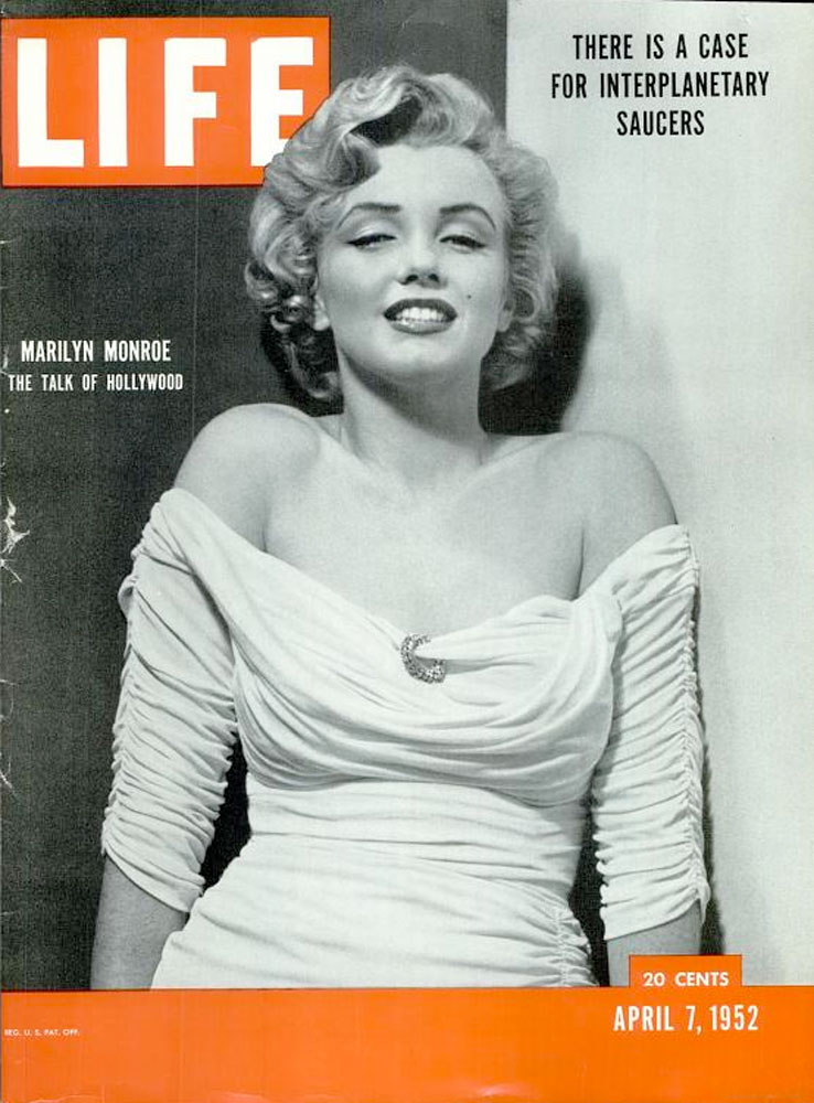 April 7, 1952, cover of LIFE magazine featuring Marilyn Monroe.