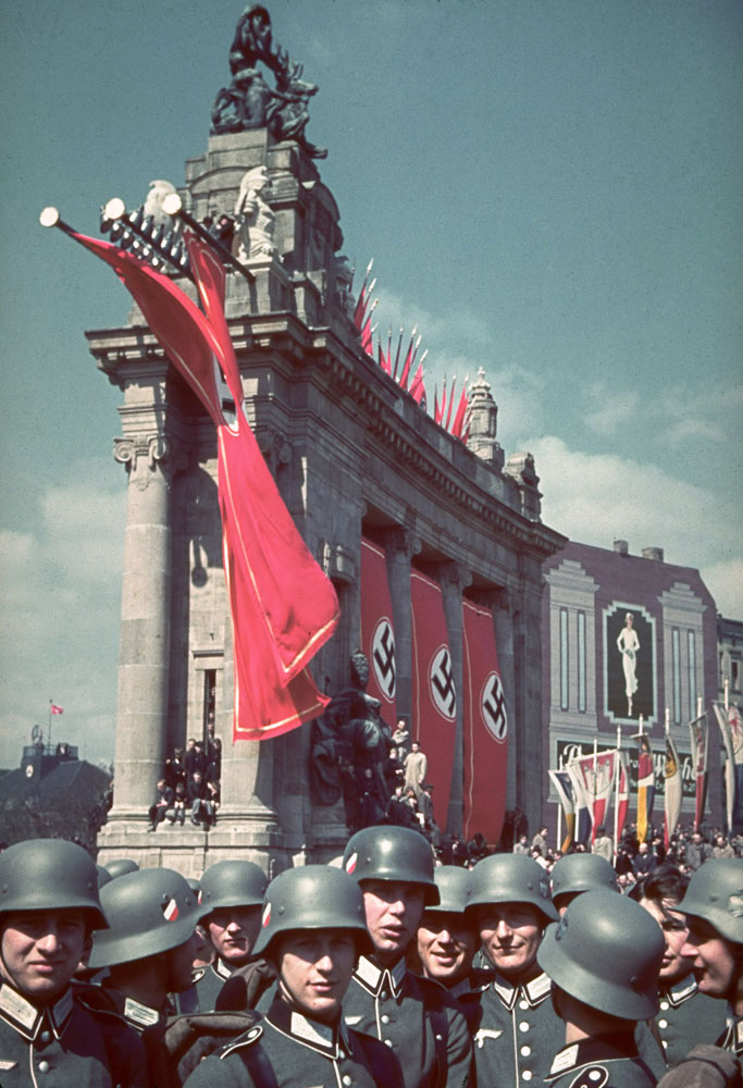 The Ost-West-Achse (East-West Axis) in Berlin, site of a massive rally and parade in celebration of Adolf Hitler's 50th birthday, April 20, 1939.