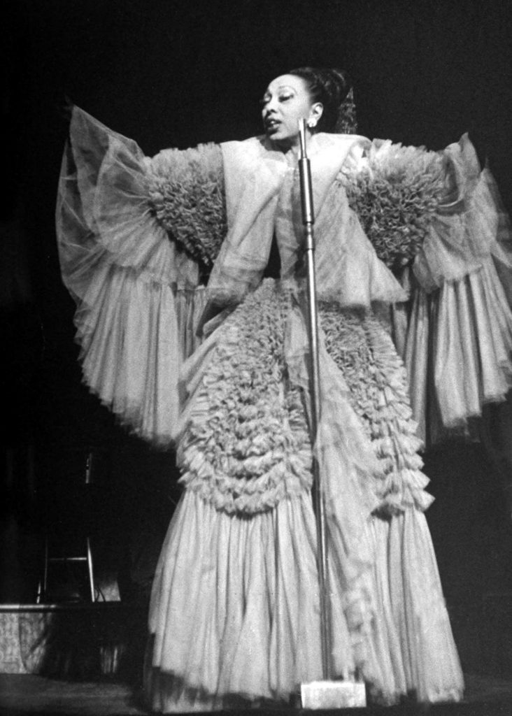 Josephine Baker during a run on Broadway, New York, 1951