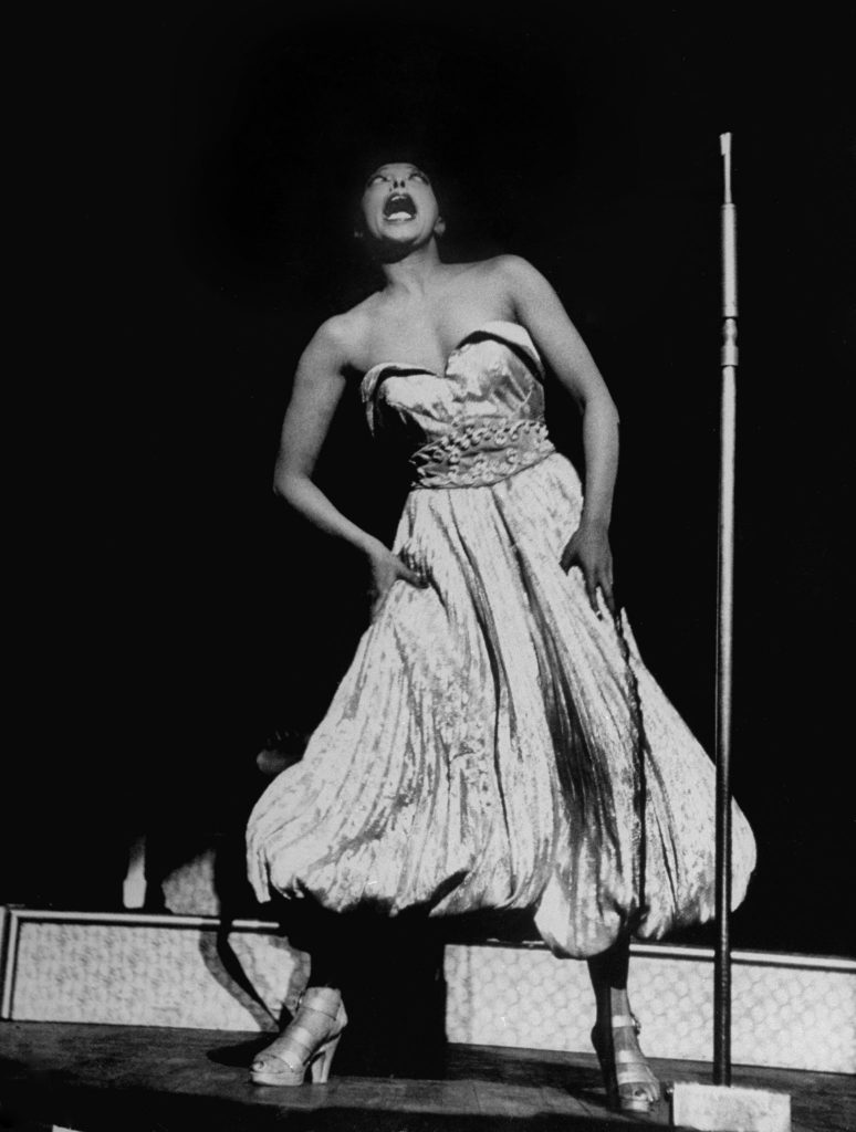 Josephine Baker performs at New York's Strand Theater in 1951.