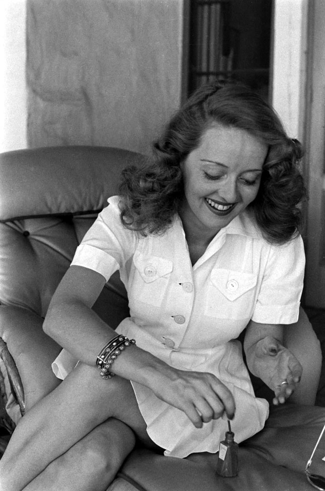Bette Davis at home in Beverly Hills California, 1939