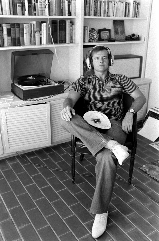 Jack Nicholson at home in Los Angeles, 1969