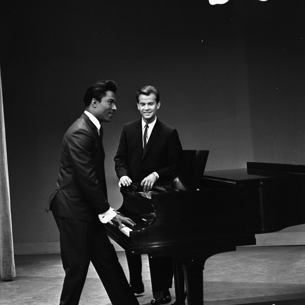 Little Richard with Dick Clark on American Bandstand in 1964.