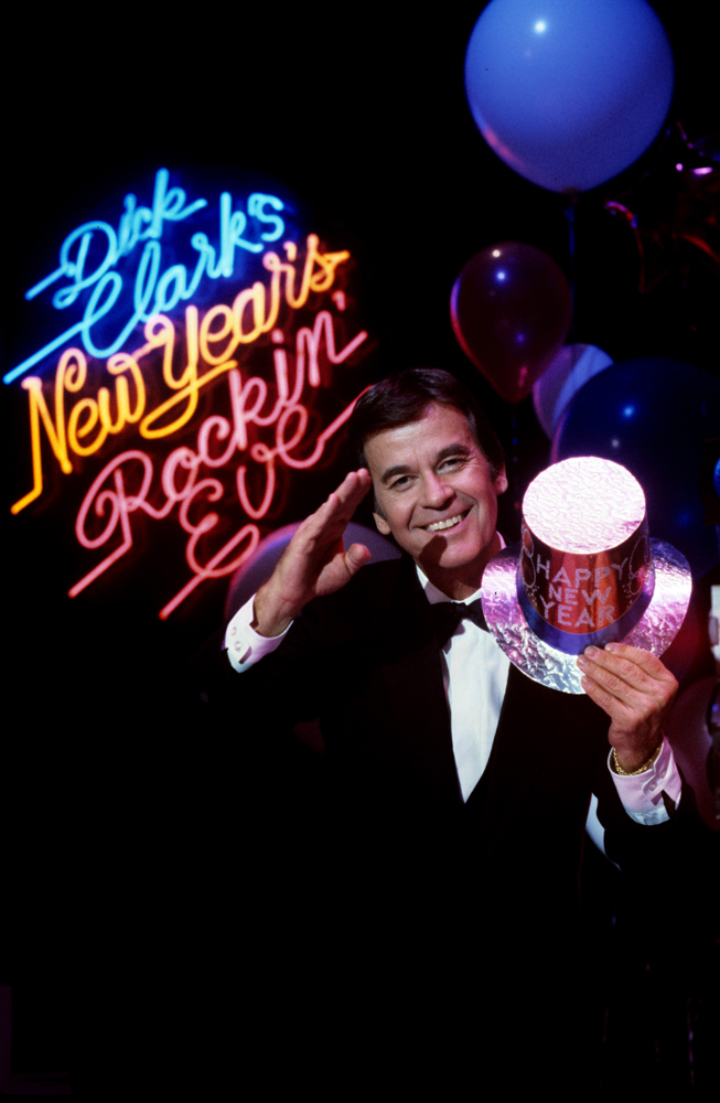 Dick Clark prior to his New Year's Rockin' Eve broadcast in 1983-84.
