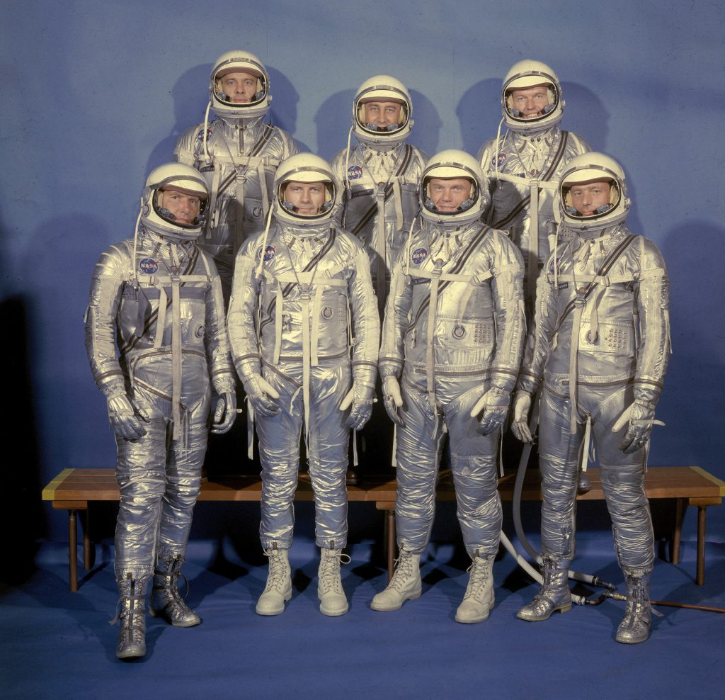 Mercury 7 astronauts, Langley Air Force Base
