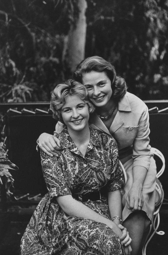 Ingrid Bergman and her daughter, Pia Lindstrom, in 1959.