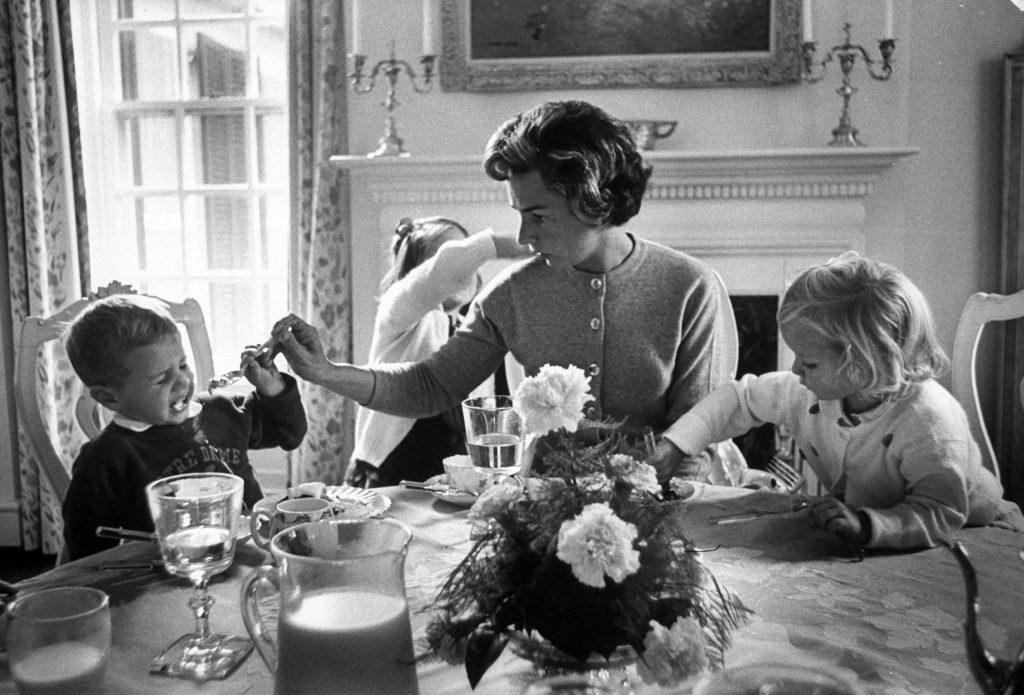 Mrs. Robert F. Kennedy with her children, 1961.