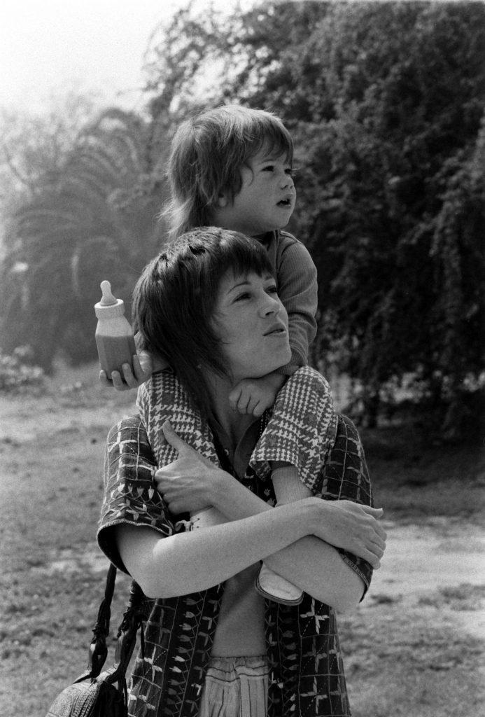 Jane Fonda and her daughter, Vanessa, in California, 1971.