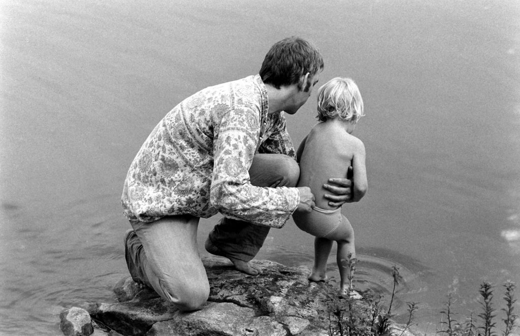 Donald Sutherland with his son, Kiefer, in 1970.