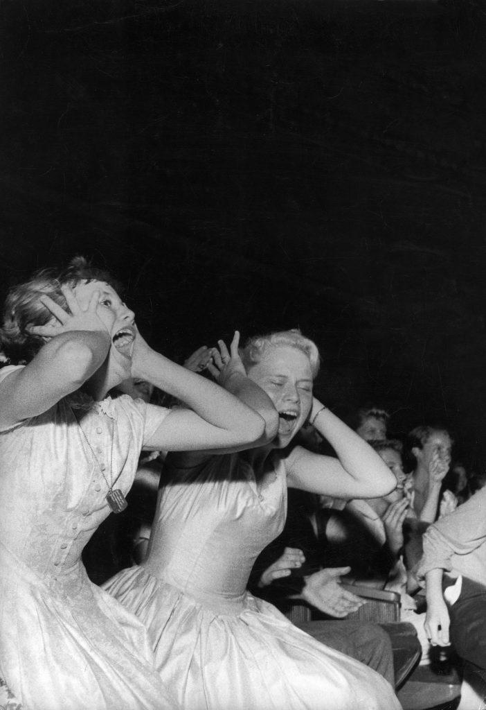 Elvis Presley fans in Florida 1956