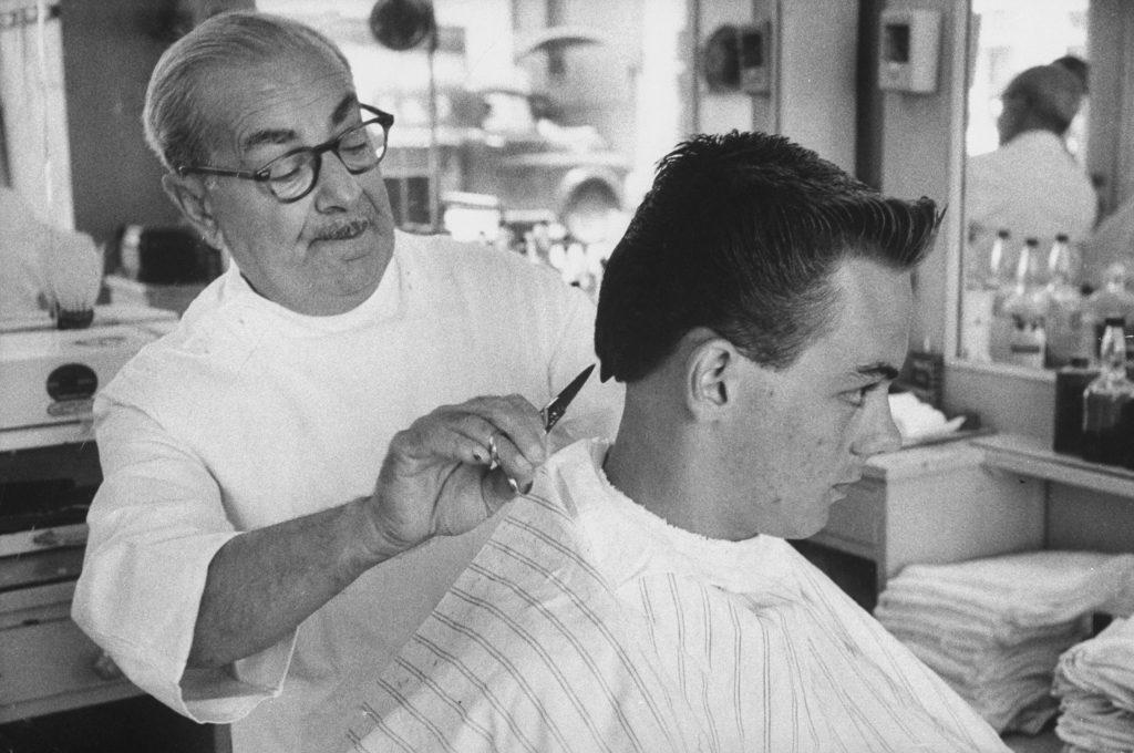 Elvis Presley-style haircut in Florida 1956