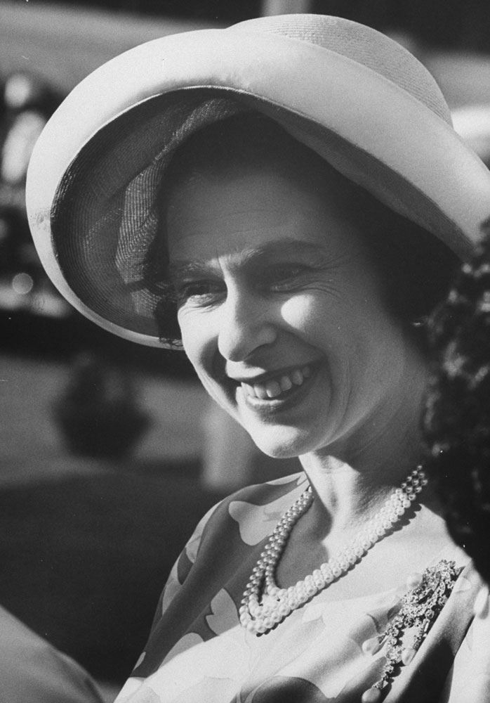 Queen Elizabeth II during a visit to Sudan, 1964.