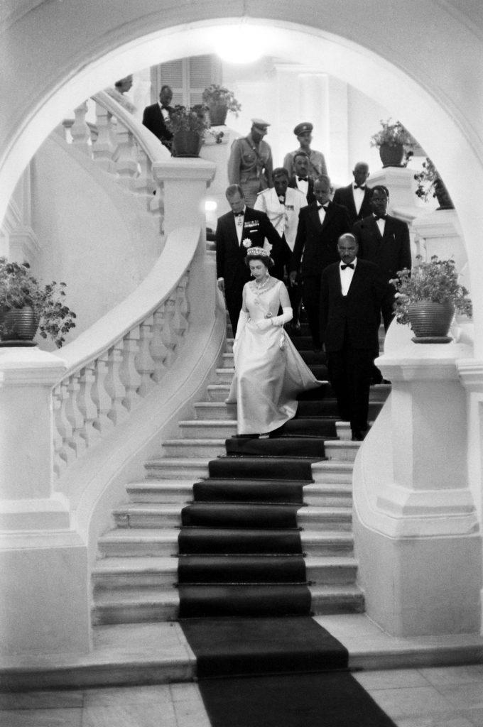 Queen Elizabeth II in Ethiopia, 1965.