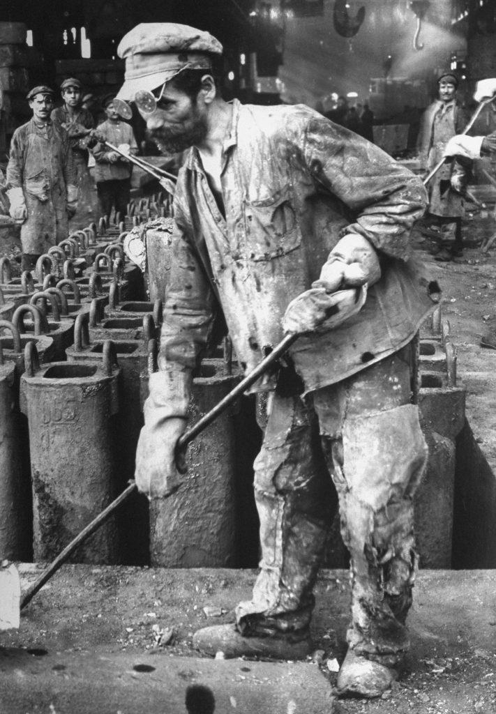 Russian iron worker, Stalingrad, 1930.