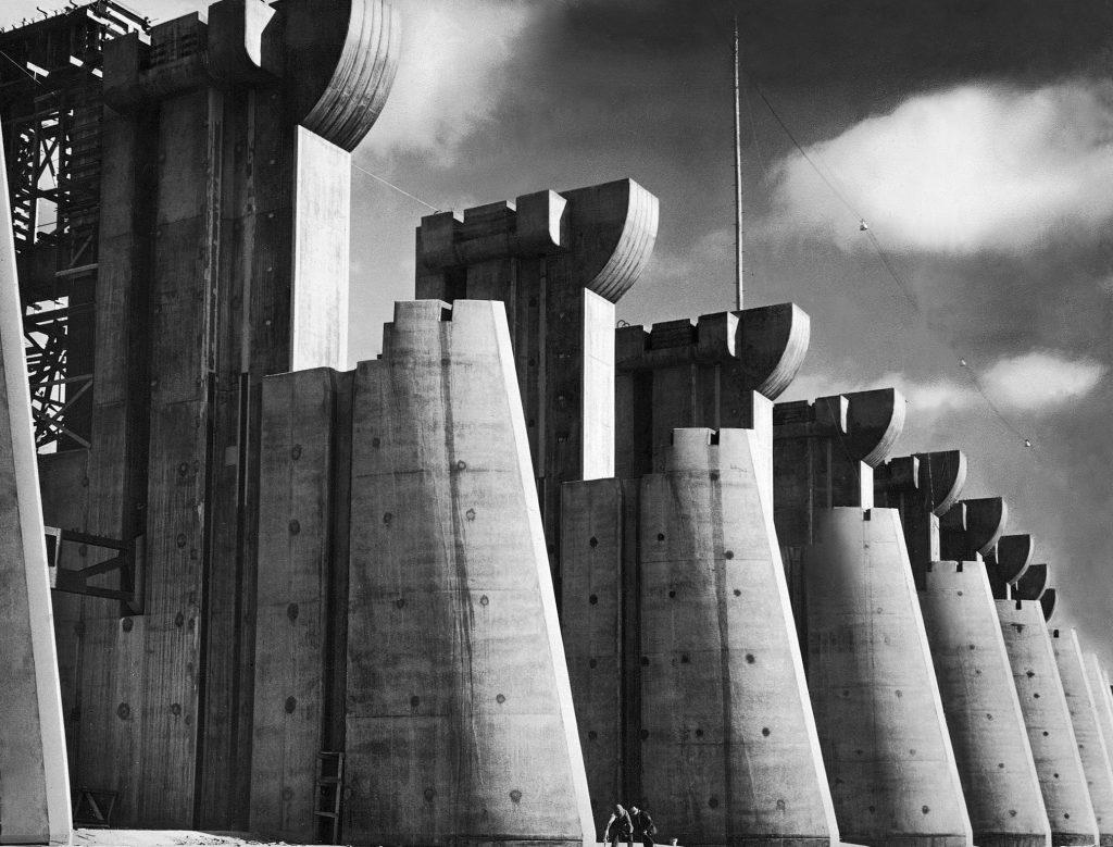 Fort Peck Dam, 1936.