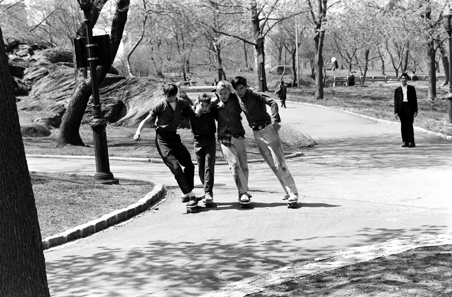 Skateboarding in New York City, 1965