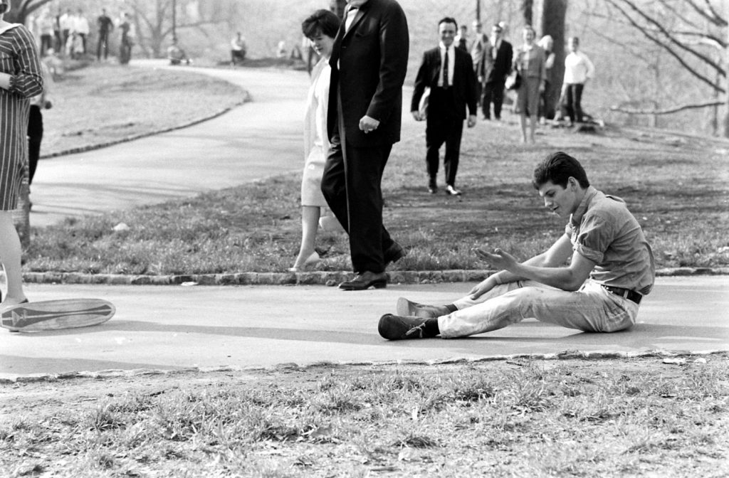 Skateboarding in New York City, 1965