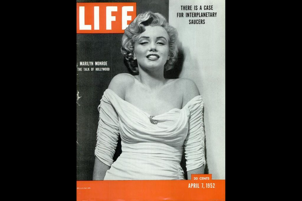 LIFE Magazine, April 7, 1952. Marilyn Monroe's debut on the magazine's cover, photographed by Philippe Halsman.