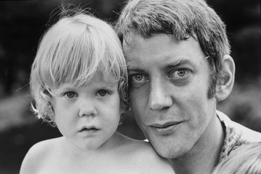 Donald Sutherland and his son, Kiefer, in California, 1970.