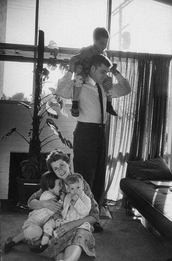 The former Barbara Ledermann, now Mrs. Martin Rodbell, in Maryland, 1958.
