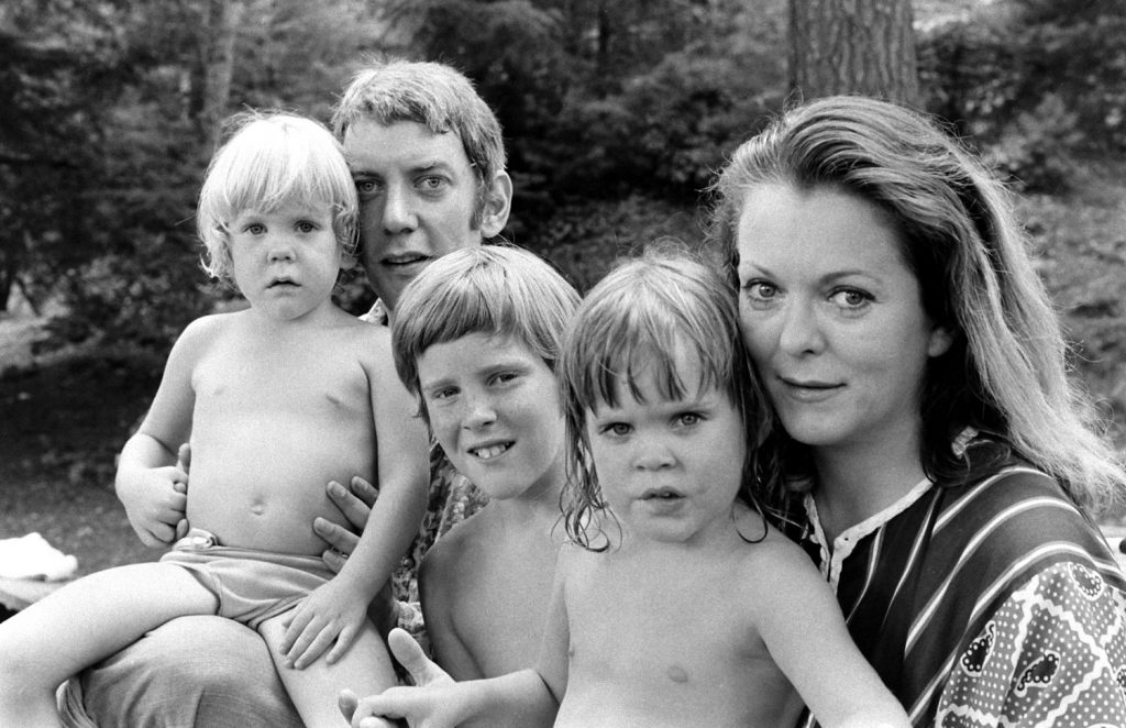 Donald Sutherland with his wife, Shirley Douglas, and their children (l-r): Kiefer Sutherland, Tom Douglas (Shirley's son from her first marriage), Rachel Sutherland, in California, 1970.