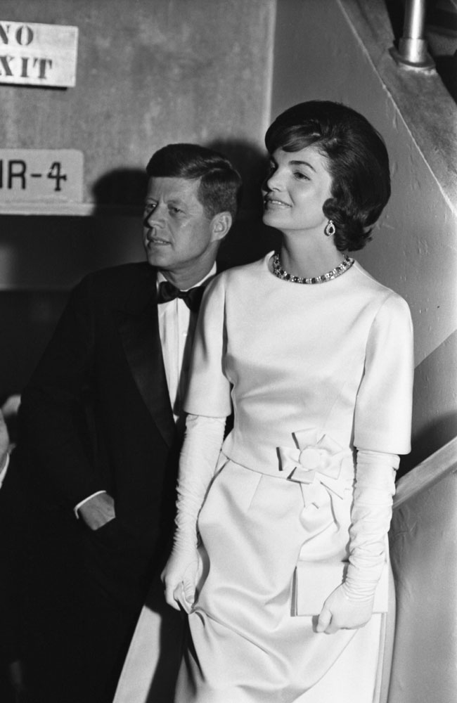 President-elect John Kennedy with Jackie in January 1961.
